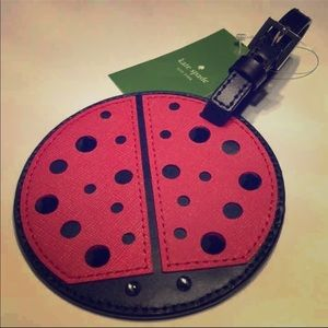 Kate spade ladybug luggage tag